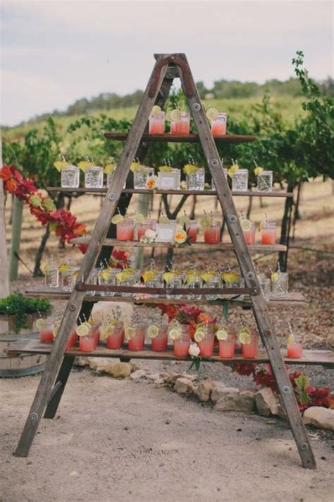 diy wedding ladder decor that anyone can make