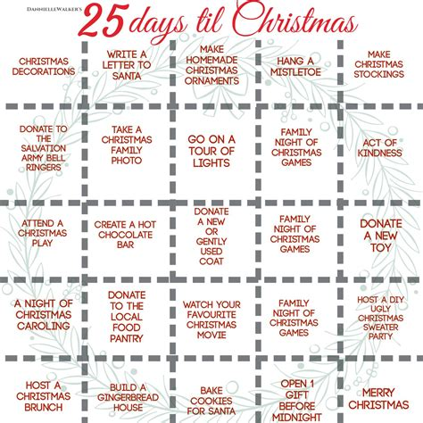 days till christmas template diy holiday crafts thediyshow