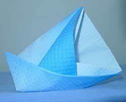 Origami Bateau à Voile : pliage de serviette de table en forme de bateau de voilier ~ Dode.kayakingforconservation.com Idées de Décoration