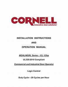 Installation Instructions And Operation Manual