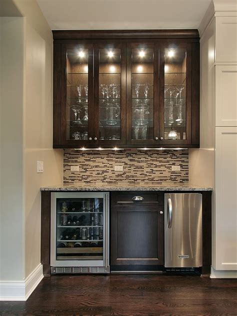 bar cabinet with wine fridge wet bar design home design ideas pictures remodel and decor