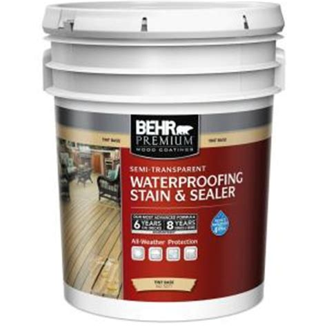 Behr Premium Deck Stain Home Depot by Behr Premium 5 Gal White Tint Base Semi Transparent