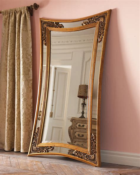 floor mirror macy s get the look rustic glam and goth living room popsugar home
