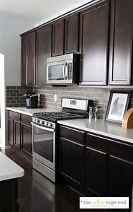 top 25 best dark kitchen countertops ideas on pinterest With kitchen colors with white cabinets with large vinyl stickers for walls