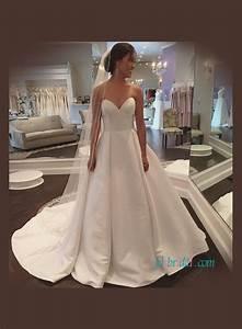 cheap satin wedding dressessimply plus size classic With plain a line wedding dress