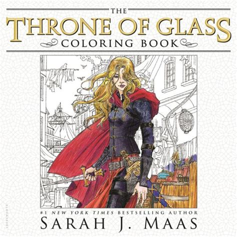 throne  glass coloring book  sarah  maas yvonne