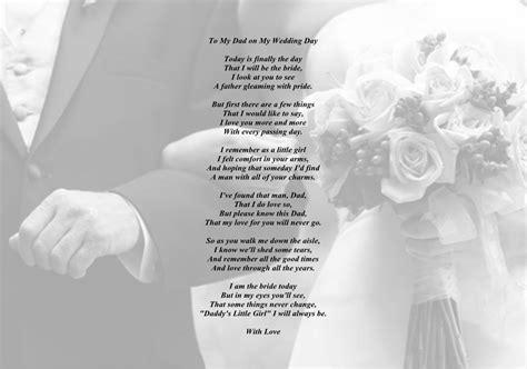 father   bride poem daddys girl   dad