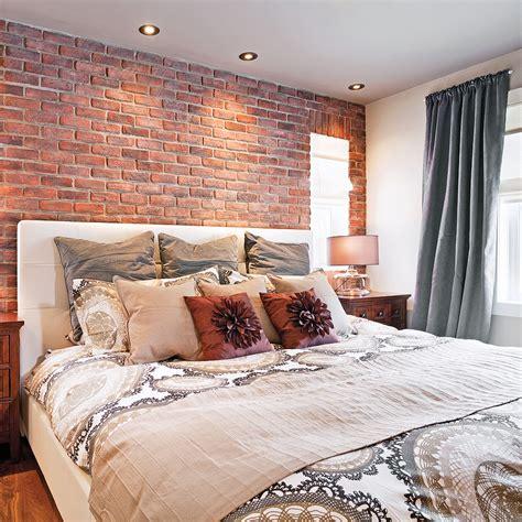 veilleuse chambre à coucher décoration chambre brique