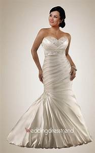 beautiful plus size strapless sweetheart applique beaded With plus size strapless wedding dresses