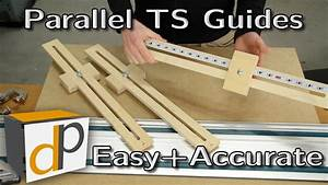 Quick Parallel Guides For Your Track Saw