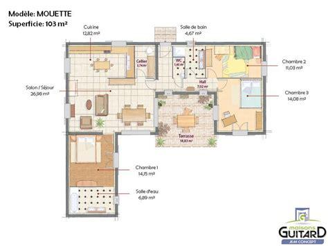 modele maison plain pied 3 chambres modele de plan maison modle de maison maison de plain