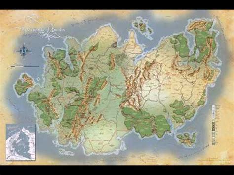 dragonlance map  krynn animation   cataclysm