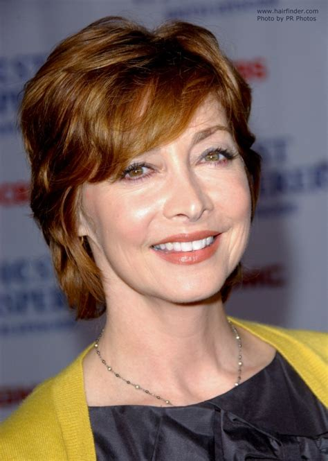 Sharon Lawrence   Short **** haircut that covers half of