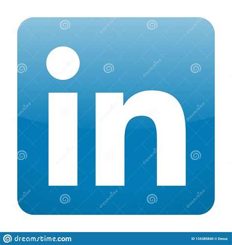 LinkedIn icon vector editorial image. Illustration of ...