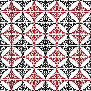 Abstract geometric background, red, white and black ...