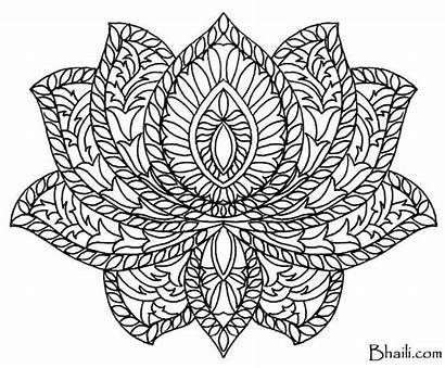 Mandala Coloring Pages Lotus Flower