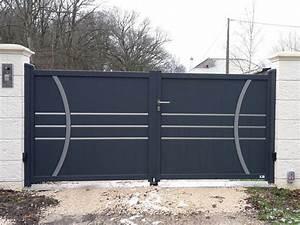Portail 4m Pas Cher : portail gris pas cher portail fer 4m expression maison ~ Dailycaller-alerts.com Idées de Décoration