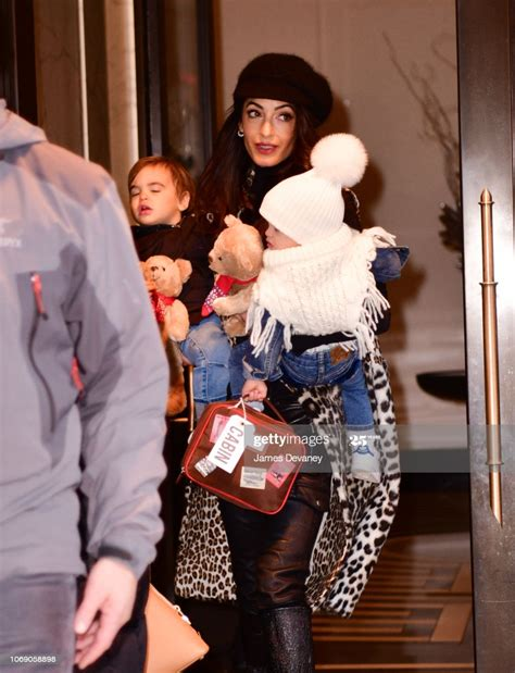 Find out how the couple plans to make their kids' birthdays special. Amal Clooney seen with her children Alexander Clooney and Ella... News Photo - Getty Images