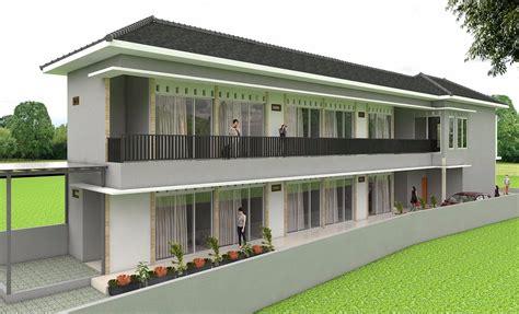 desain rumah kost minimalis  lantai  biaya huniankini
