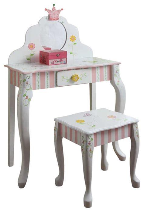 Kids Vanity Furniture by Teamson Design Princess And Frog Girls Vanity Table And