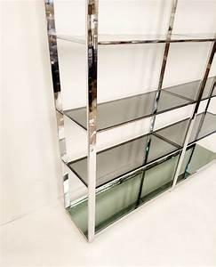 Etagere En Verre : grande etag re en chrome et verre italie en vente sur pamono ~ Teatrodelosmanantiales.com Idées de Décoration