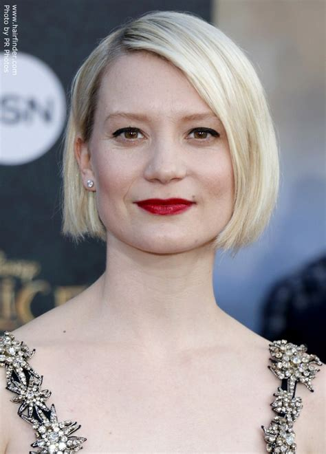 Pictures Of Hairstyles by Wasikowska S Bob With A Nape And Angled Sides