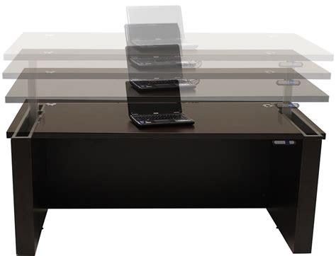 adjustable height executive desk adjustable height u shaped executive office desk in mocha