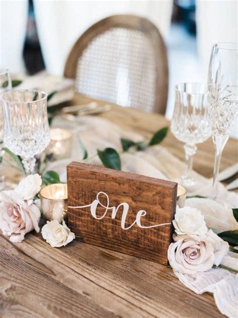 inspiring wedding table number ideas  love