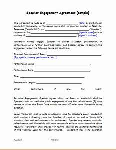speaker engagement contract sample for word document With invoice for speaking engagement