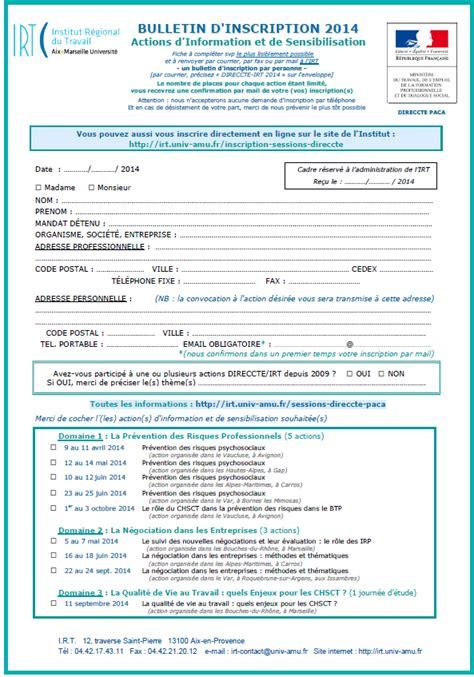 inscription pole emploi cadre actions d information et de sensibilisation direccte 2014 irt