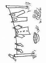 Coloring Pages Laundry Clothes Line Tendida Ropa Airedale Clothesline Terrier Copic Template Draw Embroidery Clothespin Digital Sewing Drawing Stamps Printable sketch template