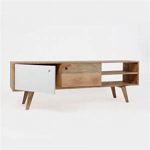 meuble tv scandinave bois massif laque made in meubles With meuble scandinave