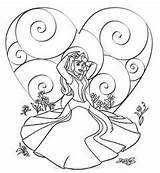 Coloring Princess Disney Valentine Sleeping Beauty Princesses Aurora Birthday Printable Sheets Happy Valentines Ariel Prinses Printables Boyama Cartoon Prenses Princesscoloringpages sketch template