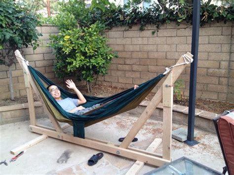 diy wooden hammock stand diyideacentercom