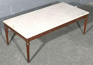 large french walnut rectangular marble coffee table for With large square marble coffee table