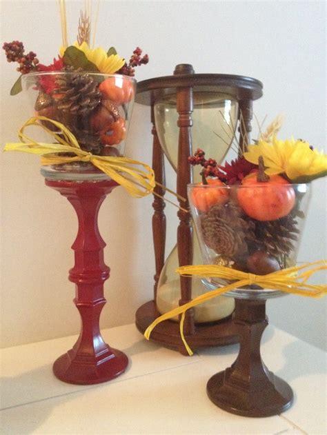fall decor diy  items  dollar store candle stick
