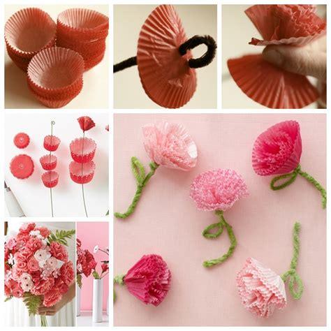 wonderful diy cupcake liner carnation flowers