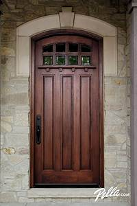 Wood Entry Doors from Pella | Rustic, Home exterior design ...