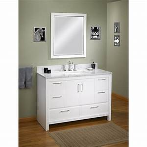 Fairmont designs belleair beach 48quot vanity high gloss for How high should a bathroom vanity be