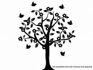 Baum Als Garderobe : wandtattoo bl hender baum mit v geln bei ~ Buech-reservation.com Haus und Dekorationen