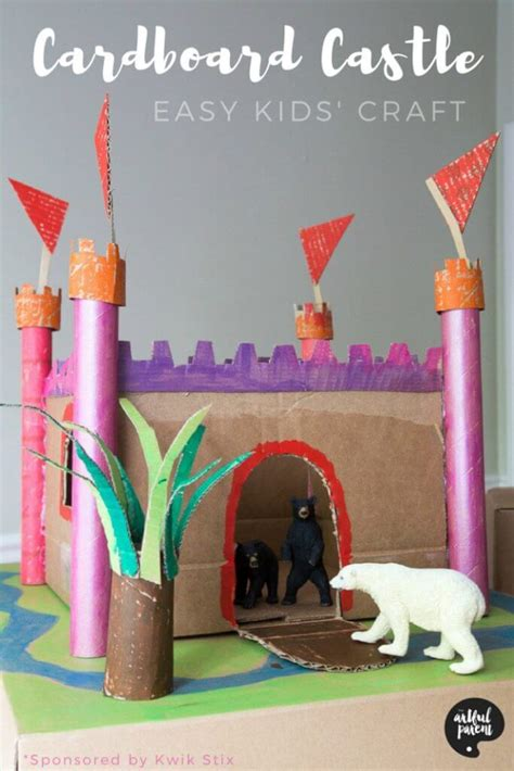 cardboard castle  hours  pretend play