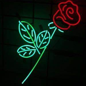 New Custom Flower Rose Bar Pub Lamp Light BEER Neon Sign