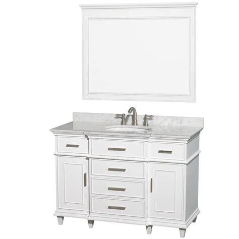 avola 48 inch classic white finish single sink