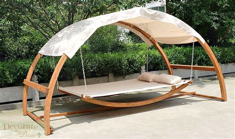 covered hammock bed swing hammock bed canopy roof 2 person dual wood arches