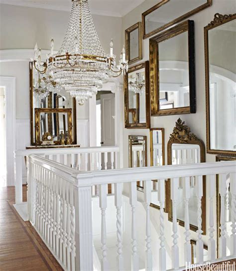 gallery wall with mirror staircase wall mirrors french entrance foyer house beautiful