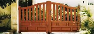 Lapeyre Portail Bois : portail salers en bois contemporain photo 20 20 un ~ Premium-room.com Idées de Décoration