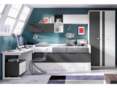 lit chambre ado lit 1 personne lisbonne blanc chambre enfant ado lagrama