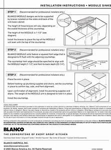 Blanco Silgranit Drain Installation Instructions