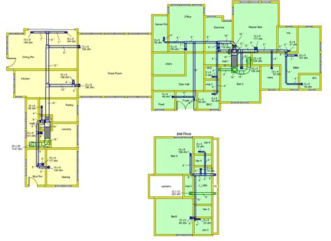 using your duct system as a whole house fan duct design and layout drawing manual d