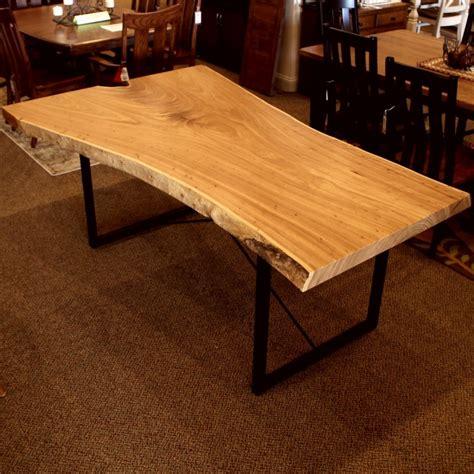 elm  edge slab table solid hardwood furniture
